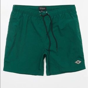 "Pacsun 17"" green swim trunks"